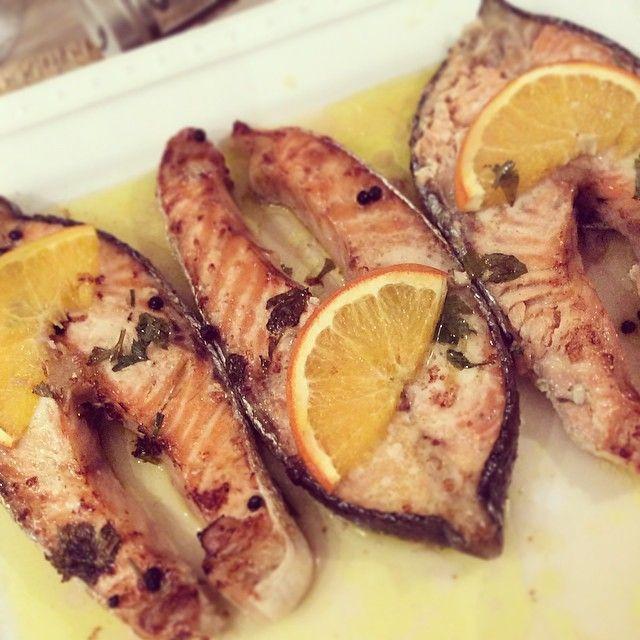 salmone, agrumi e zenzero