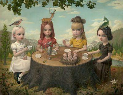 Allegory of 4 elementsTeas Time, Allegory, The Artists, Illustration, Ryden Art, Markryden, Mark Ryden, Teas Parties, Pop Surrealism