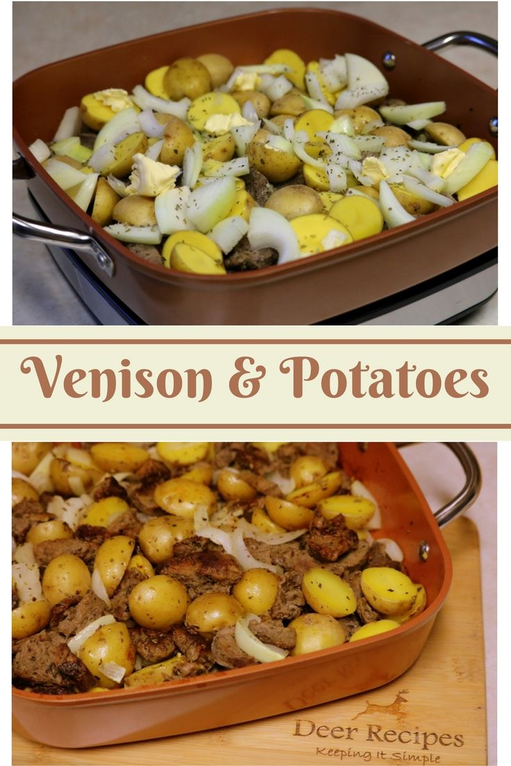 Venison and Potatoes Collage from DeerRecipes.online