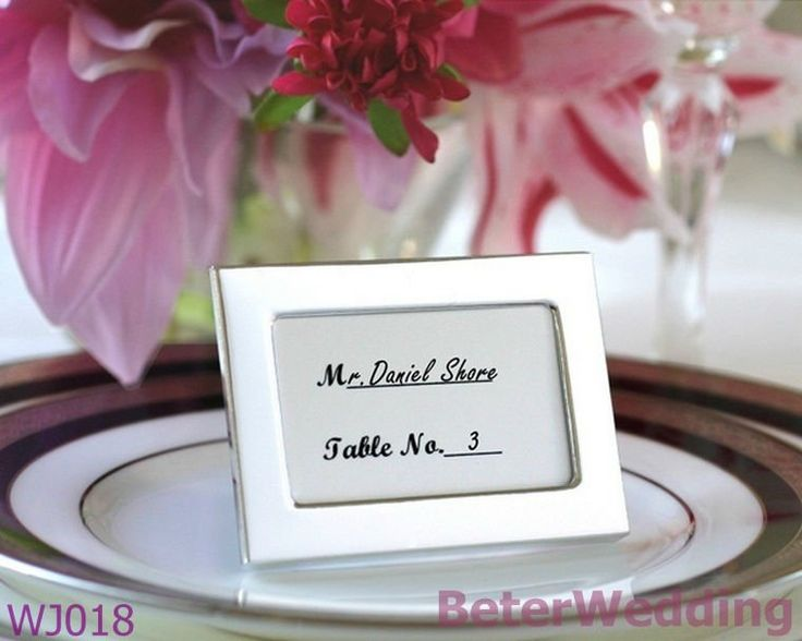 Aliexpress.com : Buy Wedding Place card Holder Miniature photo frame WJ018 Wedding Reception decoration from Reliable Wedding Reception suppliers on Shanghai Beter Gifts Co., Ltd. $32.00