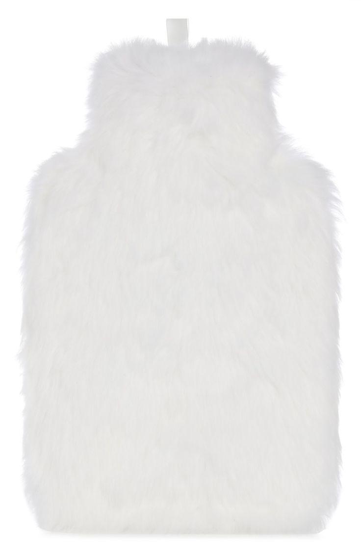Bouillotte blanche en fausse fourrure Primark 7€