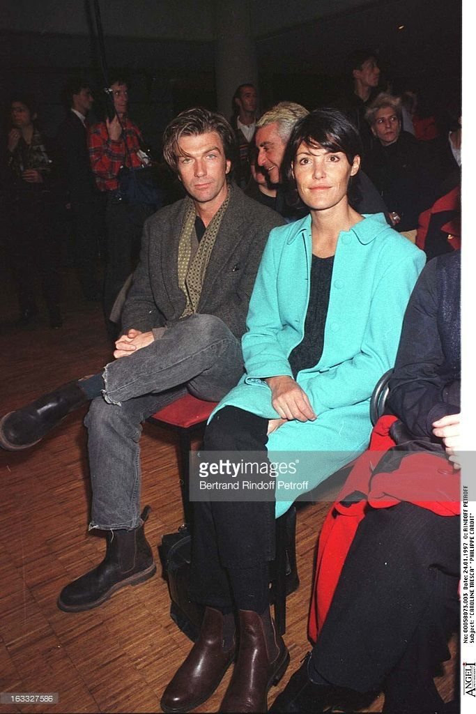 Caroline Tresca, Philippe Caroit at theLanvin Menswear Fashion Show 1997.