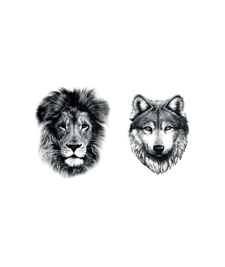 LION+WOLF TATTOO x2 - DCER 5 euros