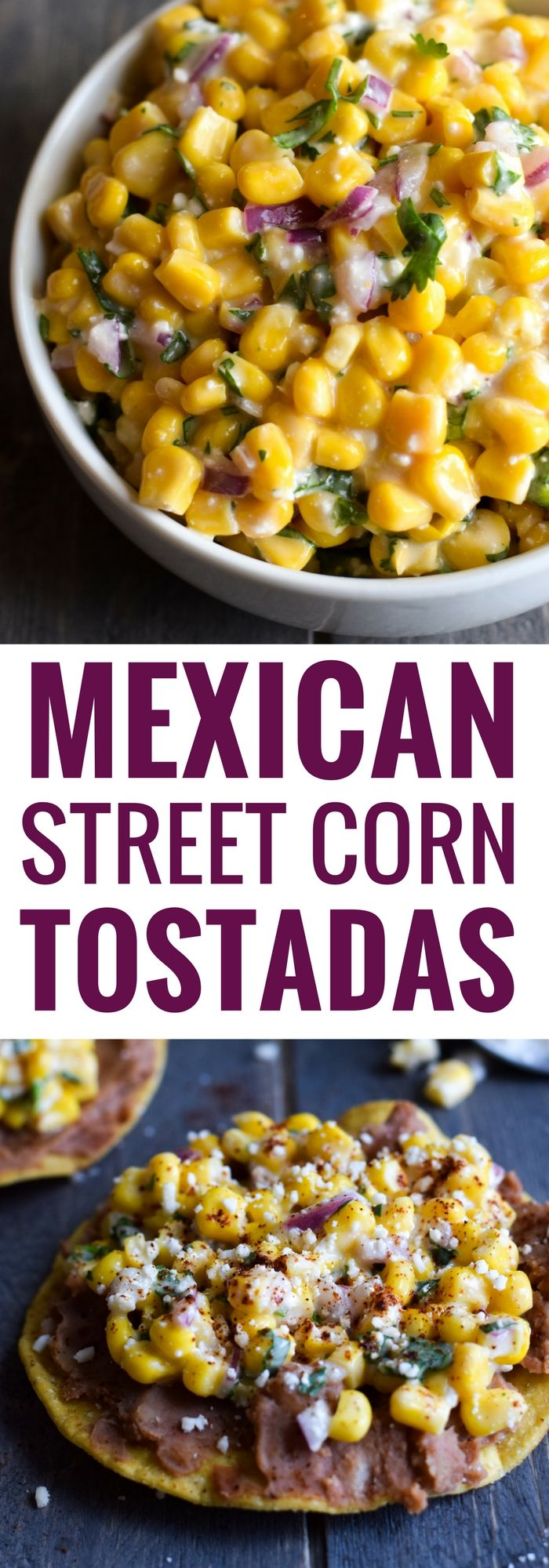 Ready in only 15 minutes, these Mexican Street Corn Tostadas made with canned corn, cotija cheese and chopped cilantro make for an easy lunch or quick dinner that's also gluten free and vegetarian. via @isabeleats