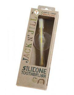 Silikonowa szczoteczka do zębów, z blokadą STAGE 2 Jack N'Jill Toddlersi