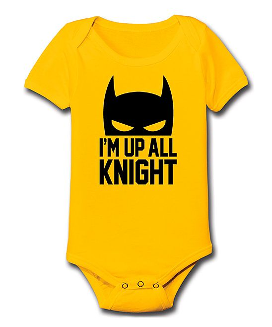 Yellow 'I'm Up All Knight' Bodysuit - Infant Size 18 months :) The Knight of my Heart <3