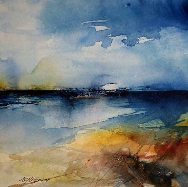 """Vattenspegling"" by Ann Christin Moberg #watercolor jd"