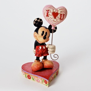 Jim Shore Disney Traditions Mickey Mouse with I Love You Heart Balloon Figurine | eBay