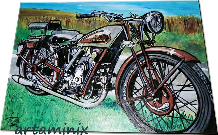 Moto guzzi #motori #handmade #italia #italy #photo #paint #art #vintage #motors #madeinitaly