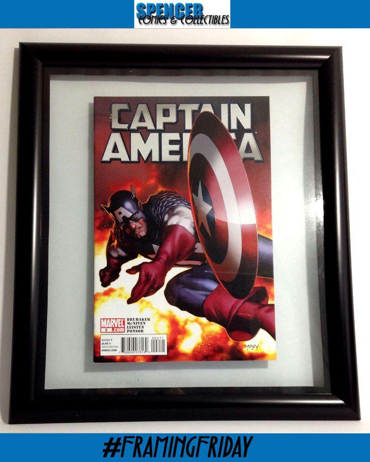 Captain America #2 by Steve McNiven Framed Comic
