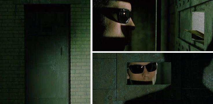 Matrix Reloaded Industrial Door Peep Slot Entry
