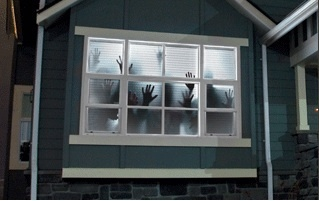 Scary Halloween Window projection Haunted House Decoration Projector Screen #1   eBay