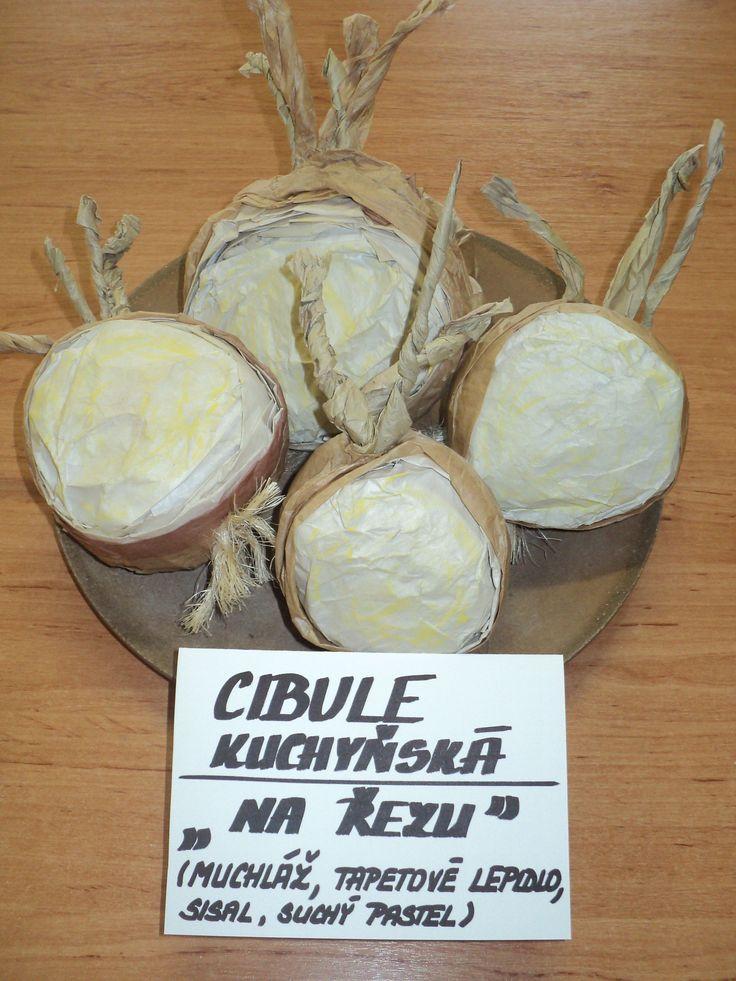 Cibule (rozříznutá) - muchláž