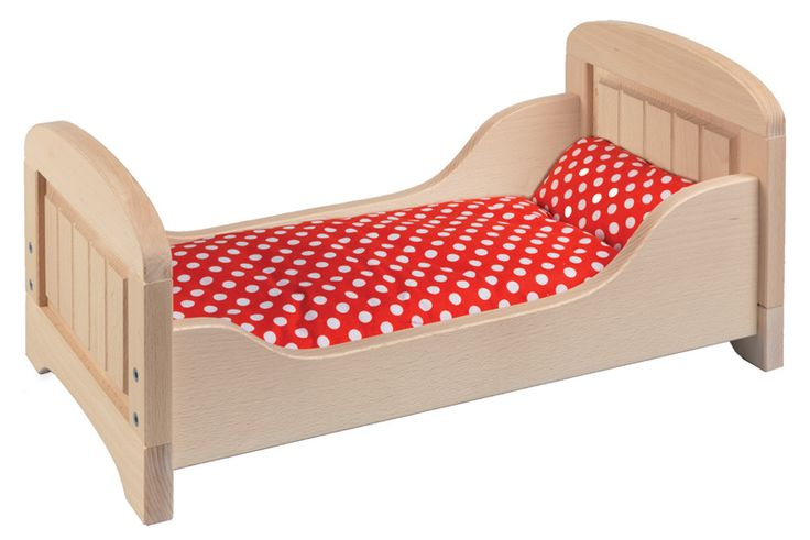 Beach Wood Dolls Bed #limetreekids