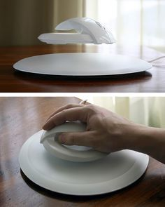 Levitating computer mouse to relieve wrist strain