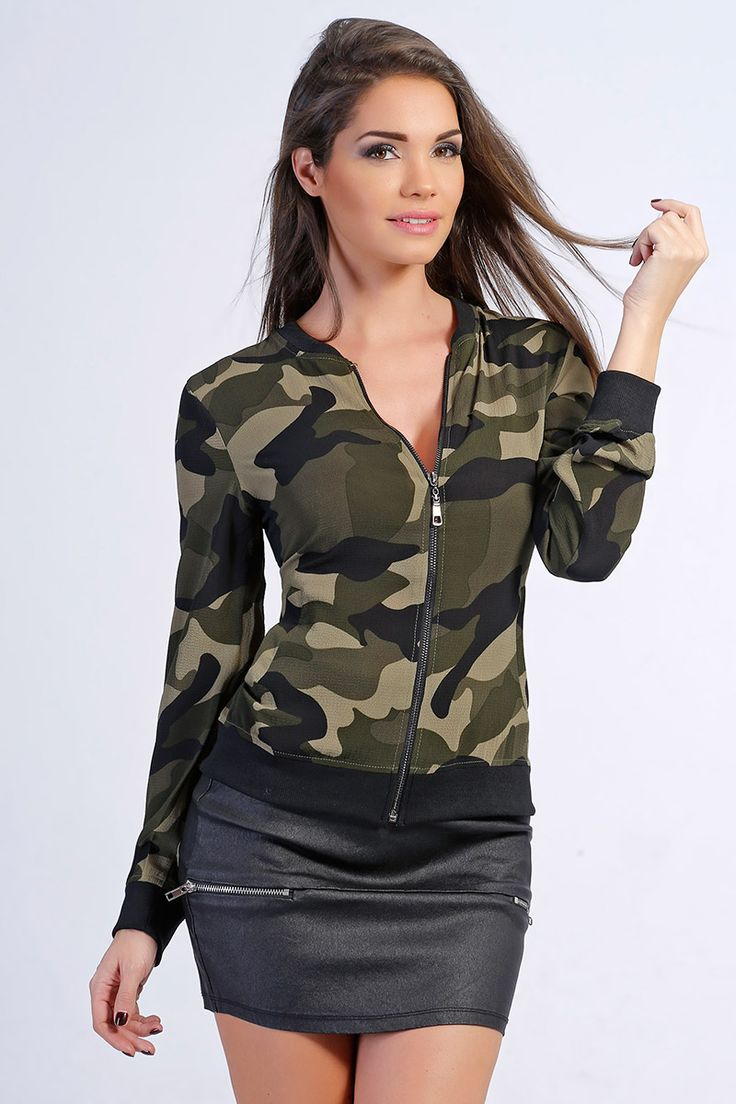 Bomber camouflage pas cher et sexy