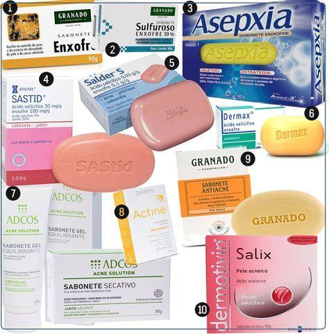 sabonete de enxofre: é indicado para peles oleosas e com acne, seca espinhas, combate a caspa e a oleosidade no couro cabeludo e ajuda muito a pele oleosa!