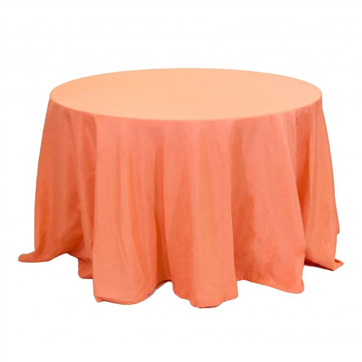 108 Round Table Linens   Coral [403982] : Wholesale Wedding Supplies,  Discount Wedding