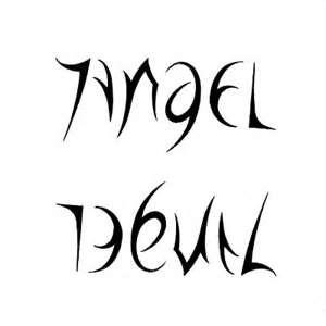 Angel And Devil Ambigram Tattoo Design  TattooWoocom