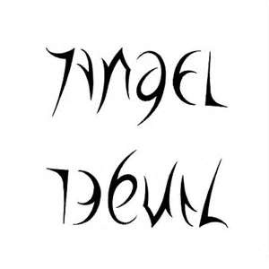 Angel And Devil Ambigram Tattoo Design  TattooWoocom