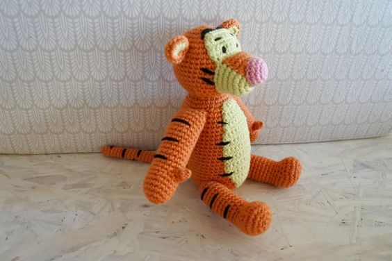 Tigerdyr hækleopskrift