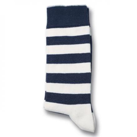 Democratique Socks Originals Striper Navy/Broken White