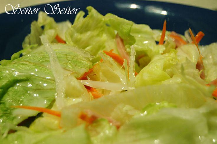 Recetas del Señor Señor: Receta de la salsa blanca agridulce original de la ensalada china