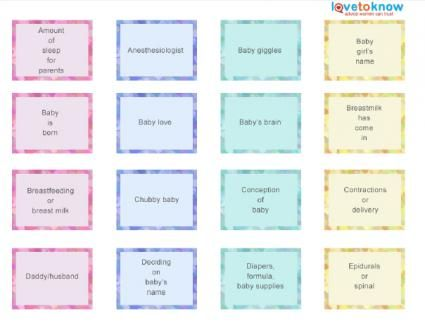 Topics For Baby Shower Candy Bar Game