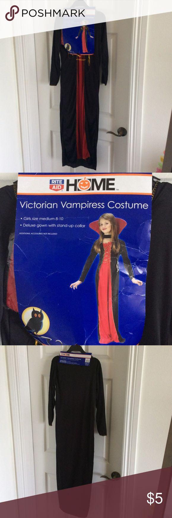 NWT VICTORIAN VAMPIRE COSTUME 8-10 Never worn Halloween Costume. Size 8-10 Child Costumes Halloween