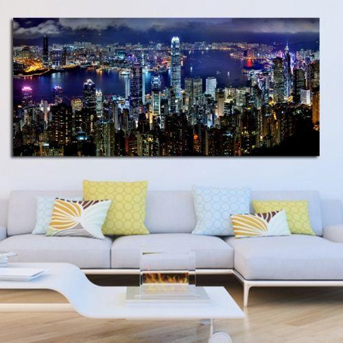 Πανοραμικός πίνακας σε καμβά ουρανξύστες