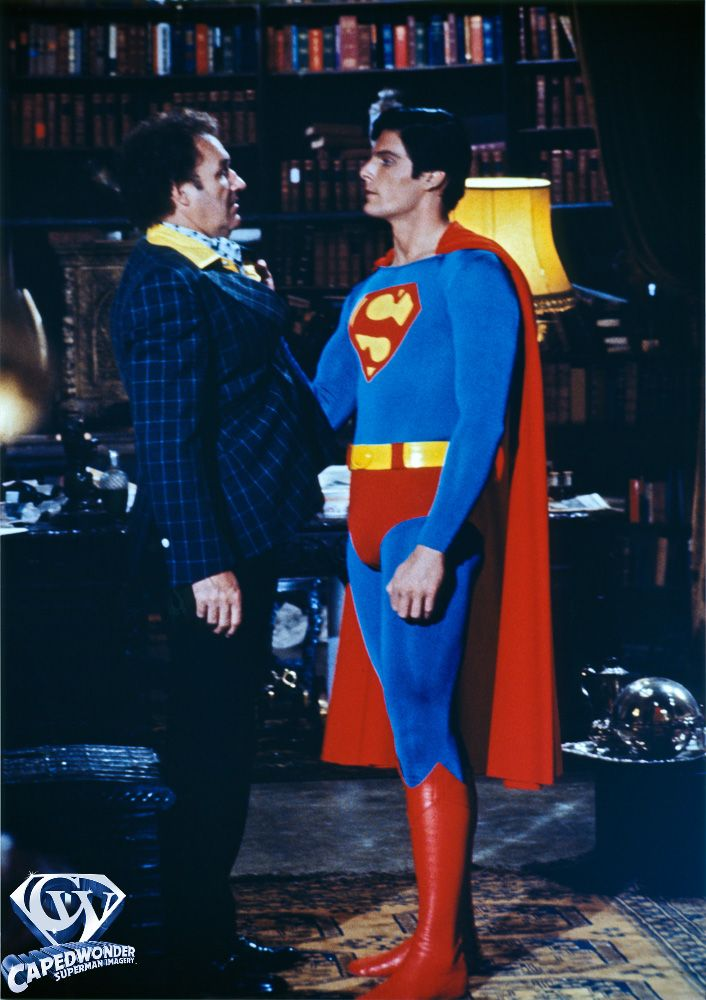 Gene Hackman and Christopher Reeve as Lex Luthor and Superman