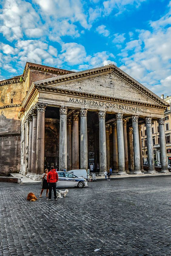 Majestic Pantheon in Rome, Italy.