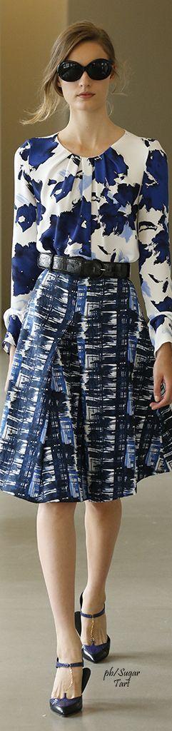 blouse, skirt @roressclothes closet ideas women fashion outfit clothing style Oscar de la Renta Resort 2016:
