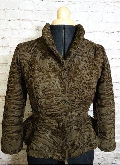 Жакет из каракуля swakara сур. - коричневый,жакет,куртка,Жакет вязаный