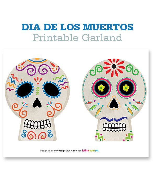 Free Printable Download Calaveras - day of the dead / dia de los muertos ,  no · Sugar Skull ...