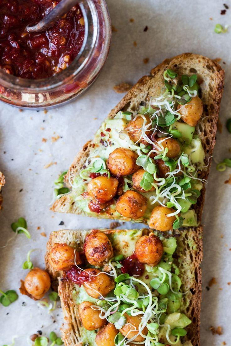 vegan avocado toast.