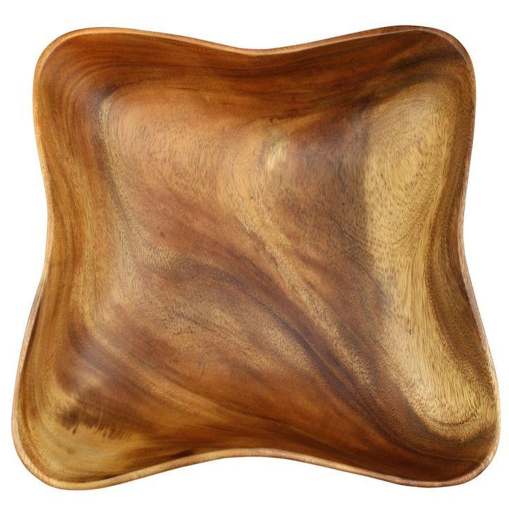 Acacia Wood Wave Bowl