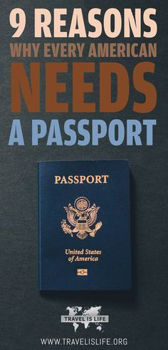 Every American needs a valid passport, even if they don't travel. Learn why you should get your passport today and read instructions on how to apply.  | USA Passport Application | How to get a passport | American Passports | Why do I need a passport? | What good is a passport? | TravelisLife.org
