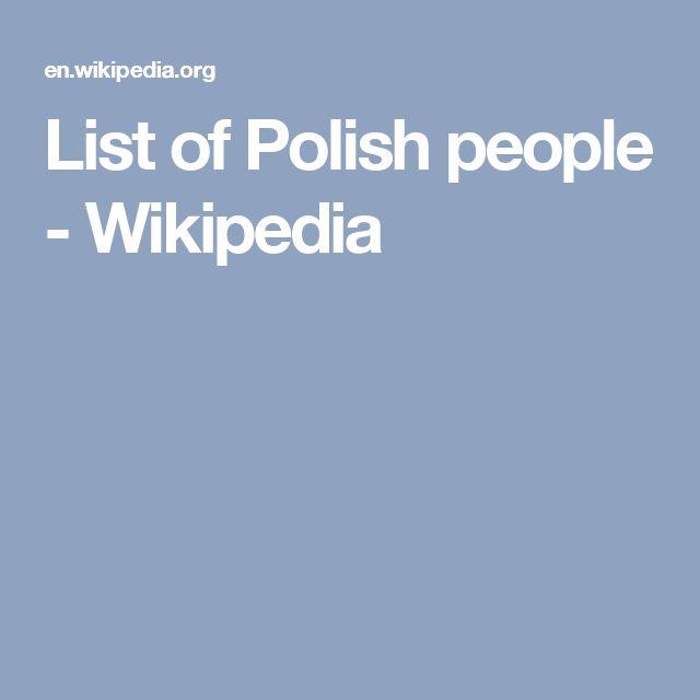 List of Polish people - Wikipedia