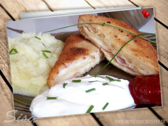 Slané palacinky plnenené šunkou a syrom. | Hrnčekové recepty