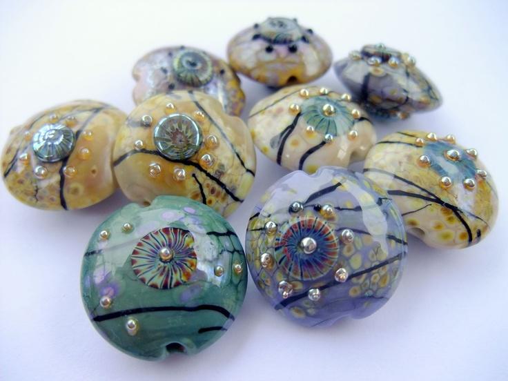 silver glass beads i make
