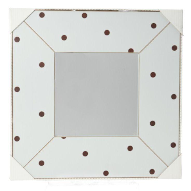 Blue/Brown Polka Dot Mirror