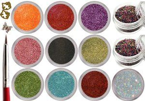 12 Jars Sparkle Glitter Powder and Mini Ball Beads NAIL ART 3D Decoration with Bonus Detailing Brush and Golden Butterflies / Hello Kitty by La Demoiselle. $10.99. Ships from USA within 24 hours.. Each Glitter Jar Weight is 3g, Mini beads - 8g. 3/4 full. Colors as pictured.. Bonus: 1x Detailer Brush and Golden Butterflies/Hello Kitty Nail Decoration Sample Approx 15 pcs. Includes: 10 Jars of Glitter Powder and 2 Jars Mixed Color Mini Beads. Bead Size: 0.8mm. Grea...
