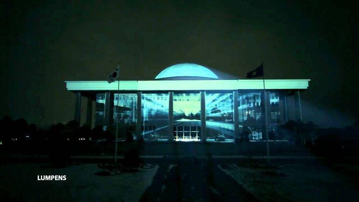 태권브이 전설의 국회의사당 돔 taekwon V projection mapping.media facade