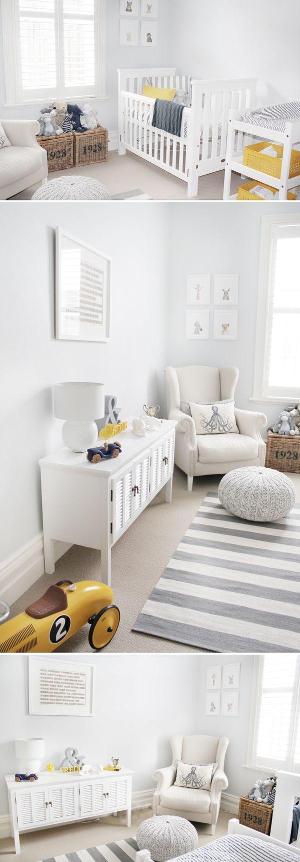Chambre bébé grises et jaunes : 13 sublimes chambres pour vous inspirer ! | Girlystan