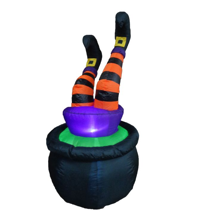 halloween inflatables | Halloween Inflatable Witch in Pot by BZB Goods