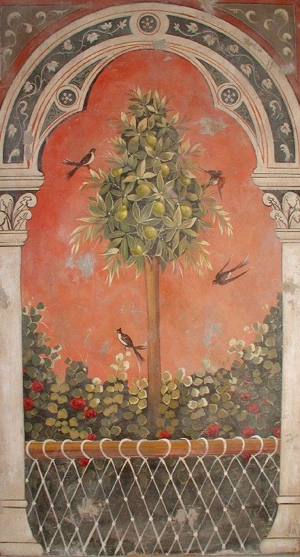 portal with a lemon tree | Italian Frescoes