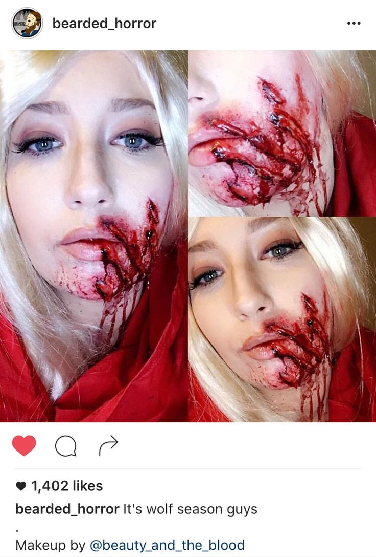 Little Red Riding Hood got slashed by the Big Bad Wolf, Slash Marks/Claw Marks  expressive special effects makeup art by @beauty_and_the_blood