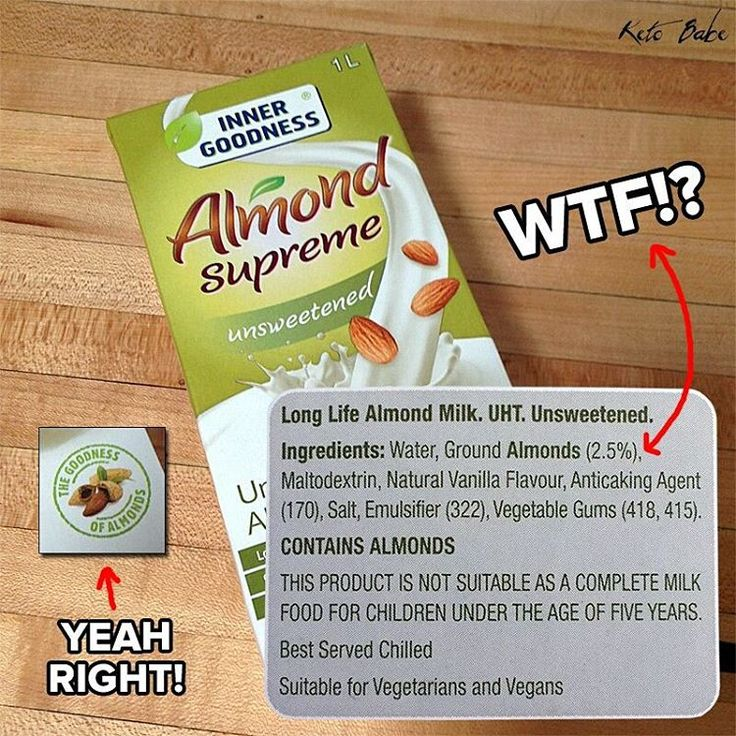 Today I realized that I was paying for a box of water by a company that claimed it was milk. Somebody should sue Aldi for selling ''almond milk'' that only contains 2.5% almonds. That's false advertising. Time to start making my own almond milk that actually contains almonds, minus all the added bullshit ingredients. #keto #ketodiet #ketogenic #ketogenicdiet #lowcarb #ketosis #ketones #ketobabe #ketobaberocks #burnfatnotcarbs #carbskill #lchf #diet #almondmilk #aldi #falseadvertising…