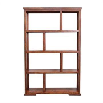 Europe Solid New Zealand Pine Timber 8 Cube Bookshelf - English Oak and Rustic Finish